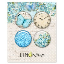 Forget Me Not Buttons / Badges