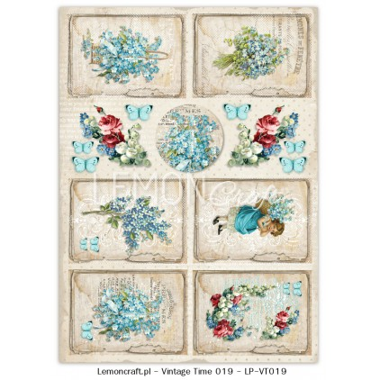 One-sided scrapbooking paper - Vintage Time 019