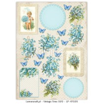 One-sided scrapbooking paper - Vintage Time 020