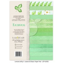 Stack of basic scrapbooking papers - Leaves 02