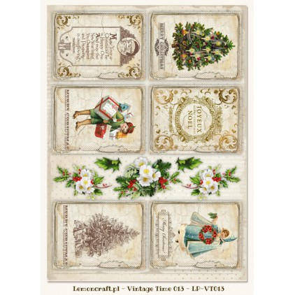 One-sided scrapbooking paper - Vintage Time 013