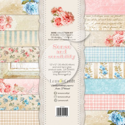 Set of scrapbooking papers - Sense and sensibility