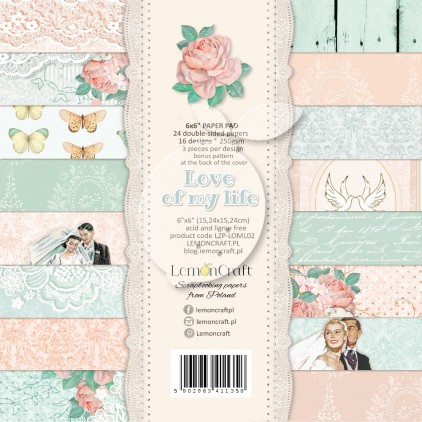 Pad of scrapbooking papers - Love of my life 6x6