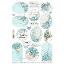 Scrapbooking Digital Collage Sheet - Forget Me Not 001 - Polish version