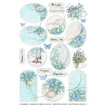 Scrapbooking Digital Collage Sheet - Forget Me Not 001 - English version