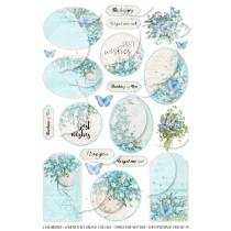 Scrapbooking - grafiki do samodzielnego wydruku - Forget Me Not 001 - angielska wersja językowa