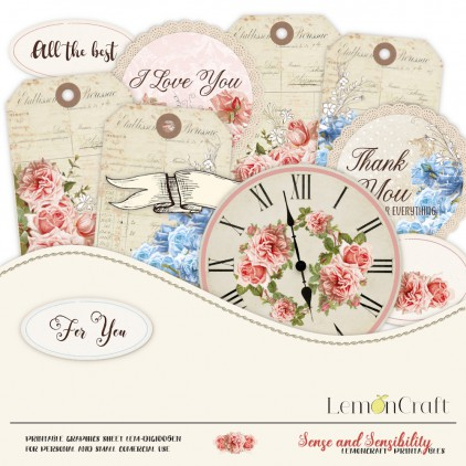 Scrapbooking digital collage sheet  - Sense and sensibility 06 - English subtitles