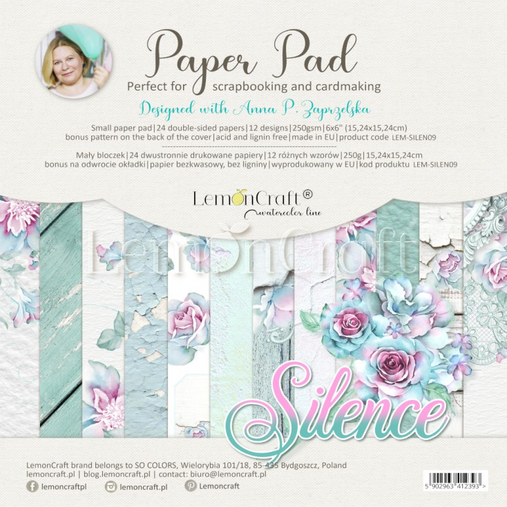 Silence - Pad scrapbooking papers 15x15cm - Lemoncraft