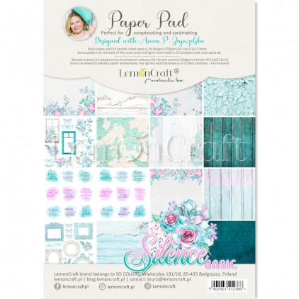 Silence Basic - Pad scrapbooking papers 21x29cm - Lemoncraft