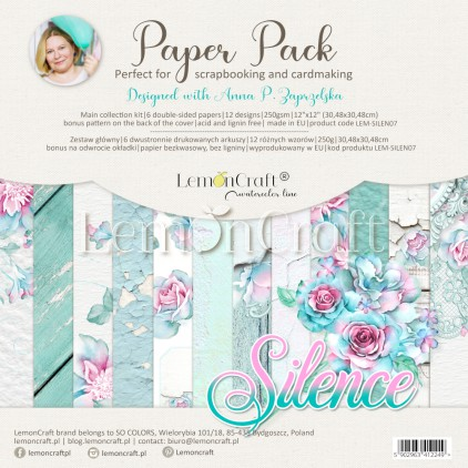 Silence - Set of scrapbooking papers 30x30cm - Lemoncraft - LEM-SILEN07