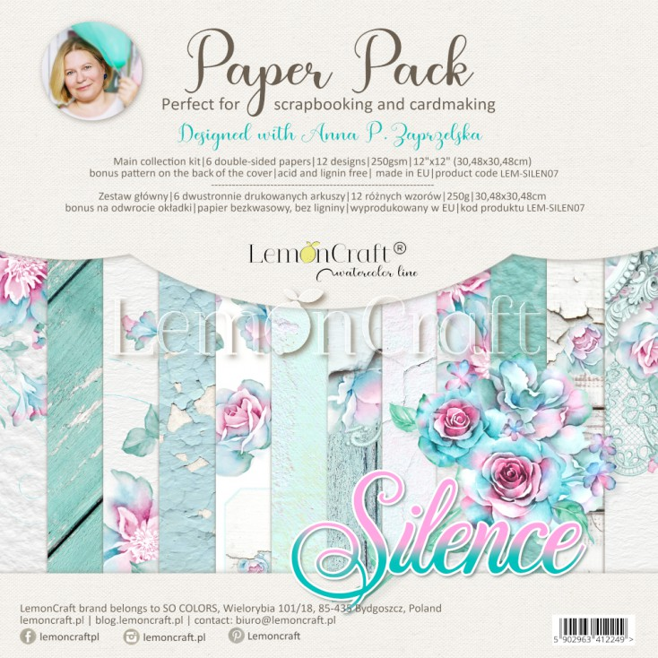 Silence - Zestaw papierów do scrapbookingu 30x30cm - Lemoncraft - LEM-SILEN07