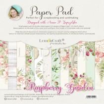 Raspberry Garden - Pad scrapbooking papers 15x15cm - Lemoncraft