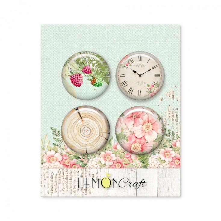Raspberry Garden - Buttons / badge - Lemoncraft