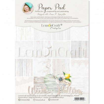 Wood Patterns 01 - Pad scrapbooking papers 21x29cm - Lemoncraft
