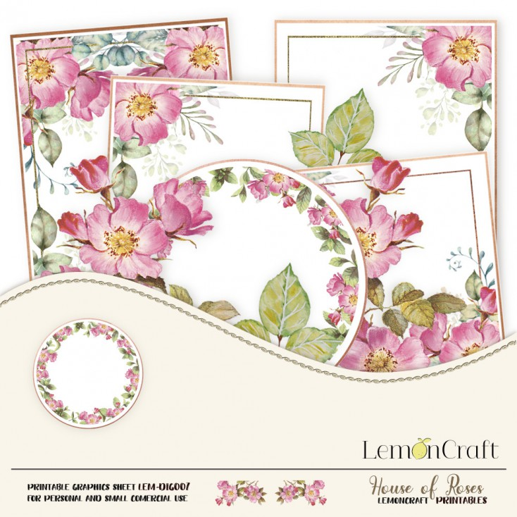 Scrapbooking digital collage sheet  - House of roses