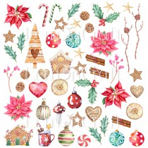 This Christmas 09 - A sheet of pictures for cutting - Lemoncraft