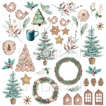 This Christmas 08 - Arkusz z obrazkami do wycinania - Lemoncraft