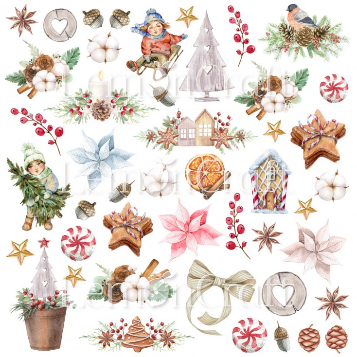 This Christmas 07 - A sheet of pictures for cutting - Lemoncraft
