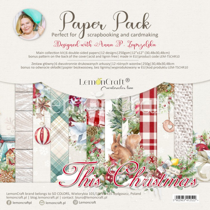 This Christmas - Set of scrapbooking papers 30x30cm - Lemoncraft