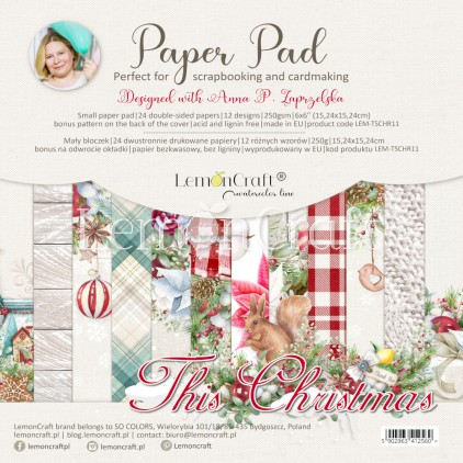 This Christmas - Pad scrapbooking papers 15x15cm - Lemoncraft