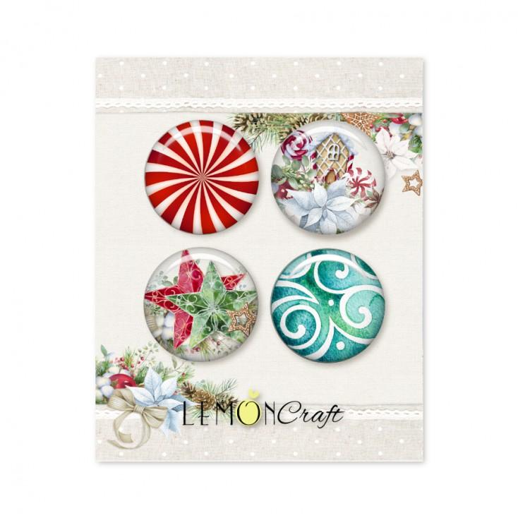 This Christmas - Zestaw samoprzylepnych ozdób / buttonów - Lemoncraft