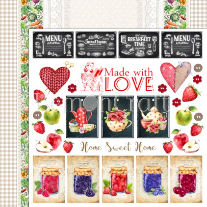 Delicious 04 - Dwustronny papier do scrapbookingu - Lemoncraft