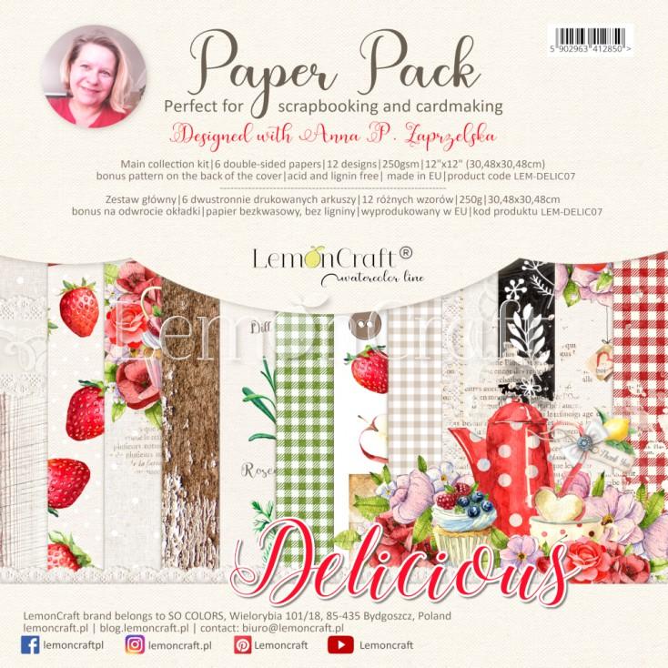Delicious - Set of scrapbooking papers 30x30cm - Lemoncraft