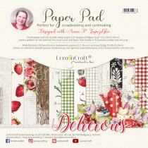Delicious - Pad scrapbooking papers 15x15cm - Lemoncraft