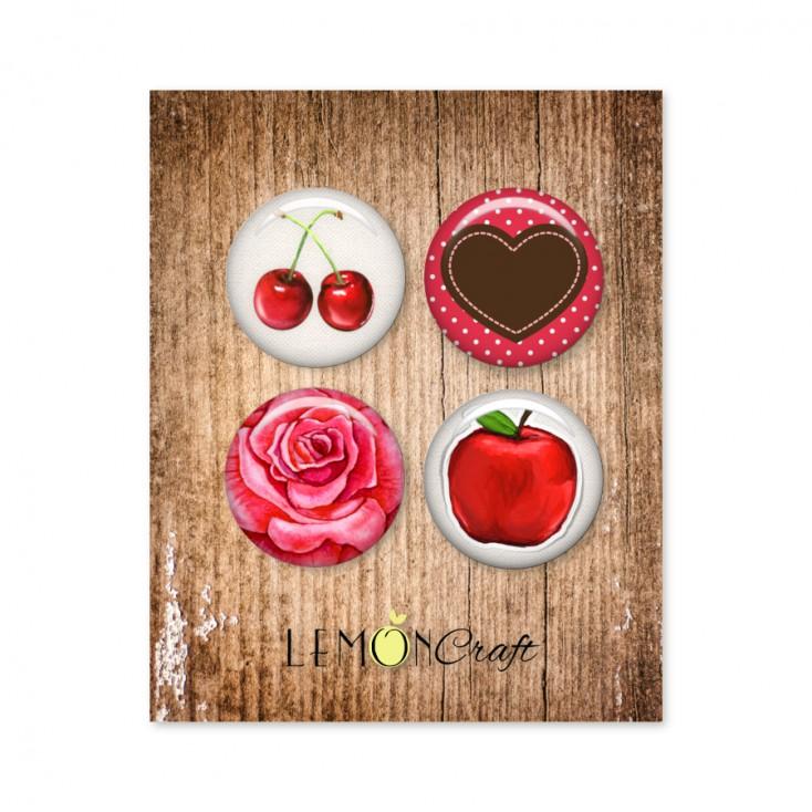 Delicious - Zestaw samoprzylepnych ozdób / buttonów - Lemoncraft