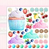 Something Sweet 04 - Double-sided scrapbooking paper - Lemoncraft
