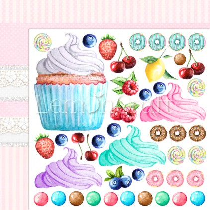 Something Sweet 04 - Dwustronny papier do scrapbookingu - Lemoncraft
