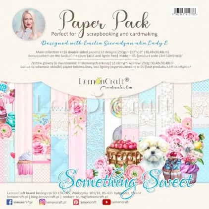 Something Sweet - Set of scrapbooking papers 30x30cm - Lemoncraft