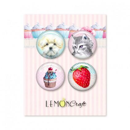 Something Sweet - Zestaw samoprzylepnych ozdób / buttonów - Lemoncraft