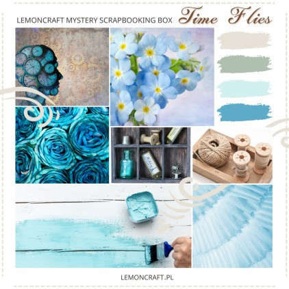 Lemoncraft Scrapbooking Kit Club - February mystery scrapbooking box - Time Flies