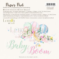 Baby Boom - Pad scrapbooking papers 15x15cm - Lemoncraft