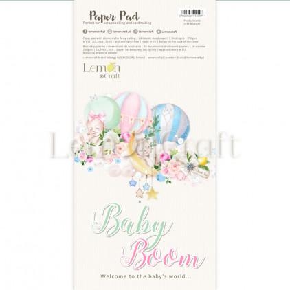 Baby Boom Elementy do wycinania - Bloczek papierów do scrapbookingu 15,24x30,5cm - Lemoncraft