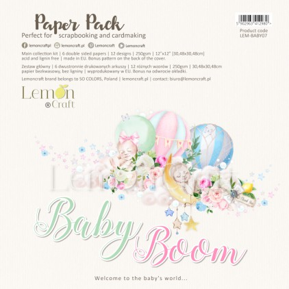 Baby Boom - Set of scrapbooking papers 30x30cm - Lemoncraft