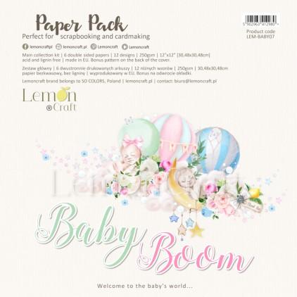 Baby Boom - Zestaw papierów do scrapbookingu 30x30cm - Lemoncraft