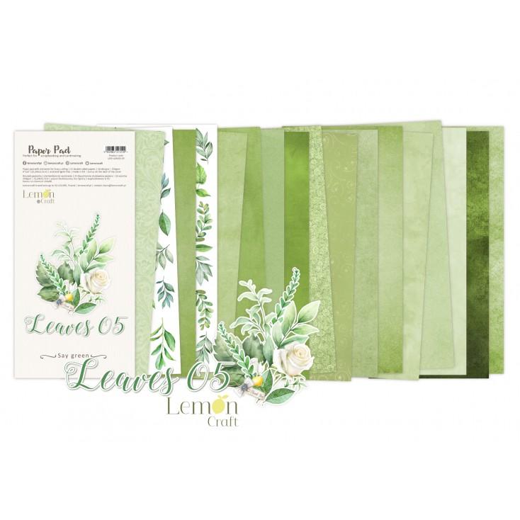 Leaves 05 - Bloczek papierów do scrapbookingu 15,24x30,5cm - Lemoncraft