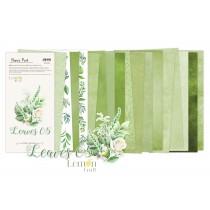 Leaves 05 - Pad scrapbooking papers 15,24x30,5cm - Lemoncraft