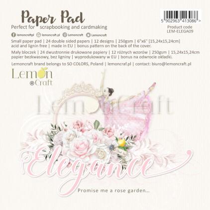 Elegance - Bloczek papierów do scrapbookingu 15x15cm - Lemoncraft