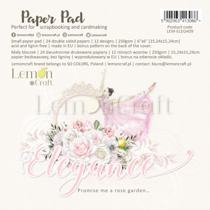 Elegance - Pad scrapbooking papers 15x15cm - Lemoncraft
