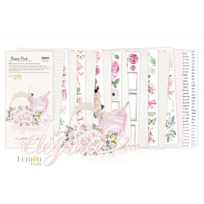 Elegance Elements for fussy cutting - Pad scrapbooking papers 15,24x30,5cm - Lemoncraft