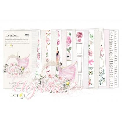 Elegance Elementy do wycinania - Bloczek papierów do scrapbookingu 15,24x30,5cm - Lemoncraft
