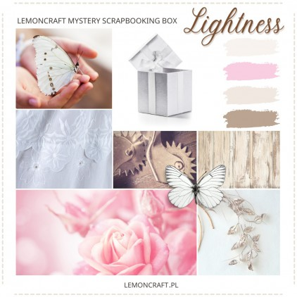Marcowe tajemnicze pudełko Lemoncraft - Lightness - Klub scrapbookingowy Lemoncraft