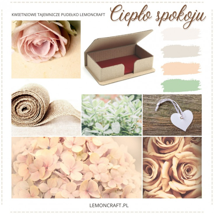 Lemoncraft Scrapbooking Kit Club - April mystery scrapbooking box - The warmth of peace