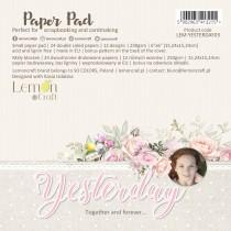 Yesterday - Bloczek papierów do scrapbookingu 15x15cm - Lemoncraft