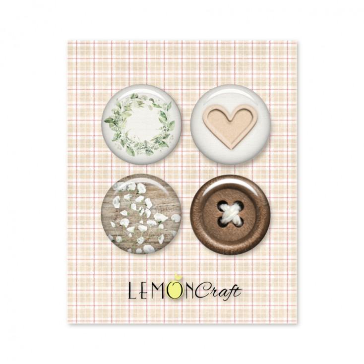 Tomorrow - Zestaw samoprzylepnych ozdób / buttonów - Lemoncraft