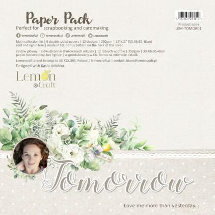 Tomorrow - Set of scrapbooking papers 30x30cm - Lemoncraft