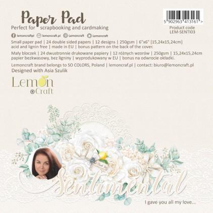 Sentimental - Bloczek papierów do scrapbookingu 15x15cm - Lemoncraft